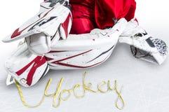 Χόκεϋ - οι δαντέλλες σαλαχιών συλλαβίζουν το χόκεϋ λέξης Στοκ φωτογραφίες με δικαίωμα ελεύθερης χρήσης