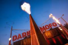 Χόμπαρτ Τασμανία στις 9 Ιουνίου 2017 - το σκοτεινό χειμερινό φεστιβάλ Mofo παίρνει το u στοκ εικόνες