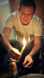 Χύνοντας κερί Στοκ φωτογραφία με δικαίωμα ελεύθερης χρήσης