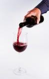 χύνοντας κρασί γυαλιού Στοκ φωτογραφίες με δικαίωμα ελεύθερης χρήσης