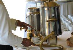 χύνοντας τσάι στοκ εικόνα