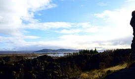 Χύσιμο νερού στην Ισλανδία στοκ εικόνα με δικαίωμα ελεύθερης χρήσης