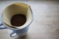 Χύστε πέρα από τον καφέ Στοκ Φωτογραφίες