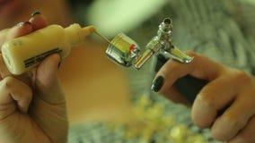 Χύστε τον τόνο στο airbrush απόθεμα βίντεο