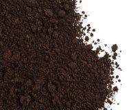 Χώμα ή συγκομιδή ρύπου που απομονώνεται στο λευκό στοκ φωτογραφία με δικαίωμα ελεύθερης χρήσης