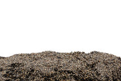 Χώμα ή τμήμα ρύπου που απομονώνεται στοκ φωτογραφίες