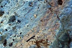 Χώμα αργίλου, μικτός άργιλος, απότομος βράχος θάλασσας Στοκ Εικόνα