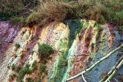 Χώμα αργίλου, μικτός άργιλος, απότομος βράχος θάλασσας Στοκ εικόνες με δικαίωμα ελεύθερης χρήσης