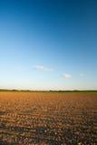 χώμα αρότρων τοπίων γεωργίας Στοκ εικόνα με δικαίωμα ελεύθερης χρήσης