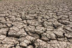 χώμα περιόδου ανομβρίας ρωγμών στοκ φωτογραφία