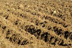 χώμα που οργώνεται Στοκ Φωτογραφίες
