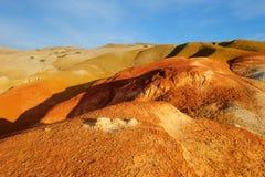 Χώμα χρώματος των καταθέσεων υδραργύρου σε Altai Στοκ φωτογραφία με δικαίωμα ελεύθερης χρήσης