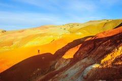 Χώμα χρώματος των καταθέσεων υδραργύρου σε Altai Στοκ εικόνα με δικαίωμα ελεύθερης χρήσης
