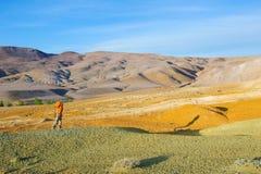 Χώμα χρώματος των καταθέσεων υδραργύρου σε Altai Στοκ Εικόνα