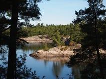 Χώρα λιμνών του Οντάριο Στοκ Εικόνες