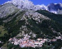 Χώρα Colonnata κοντά στο Καρράρα Θέση διάσημη για την παραγωγή Lardo Di Colonnata στοκ εικόνα