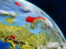 Χώρες ΕΖΕΣ από το διάστημα διανυσματική απεικόνιση