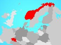 Χώρες ΕΖΕΣ στο χάρτη ελεύθερη απεικόνιση δικαιώματος