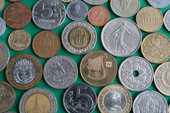 χώρες νομισμάτων διαφορε& Στοκ Εικόνα