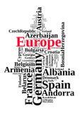 Χώρες στην Ευρώπη Στοκ εικόνα με δικαίωμα ελεύθερης χρήσης