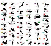 Χώρες της Ασίας Στοκ εικόνα με δικαίωμα ελεύθερης χρήσης