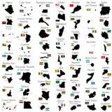 Χώρες της Αφρικής Στοκ φωτογραφία με δικαίωμα ελεύθερης χρήσης