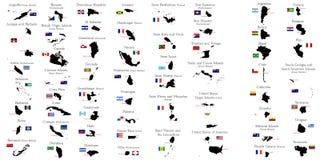 Χώρες του Βορρά και Νότια Αμερική Στοκ εικόνα με δικαίωμα ελεύθερης χρήσης