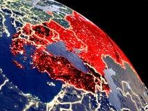 Χώρες BSEC από το διάστημα διανυσματική απεικόνιση