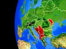 Χώρες CEFTA από το διάστημα απεικόνιση αποθεμάτων