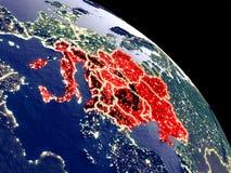 Χώρες CEI από το διάστημα διανυσματική απεικόνιση