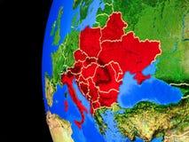 Χώρες CEI από το διάστημα απεικόνιση αποθεμάτων
