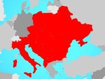 Χώρες CEI στο χάρτη απεικόνιση αποθεμάτων