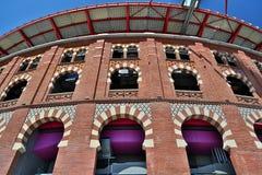 Χώροι de Βαρκελώνη, Ισπανία αρενών ταυρομαχίας Στοκ εικόνα με δικαίωμα ελεύθερης χρήσης
