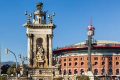 Χώροι de Βαρκελώνη και Placa Espanya Στοκ Εικόνα