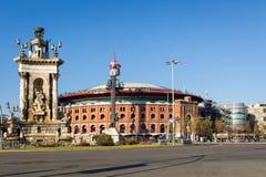 Χώροι de Βαρκελώνη και Placa Espanya Στοκ εικόνες με δικαίωμα ελεύθερης χρήσης