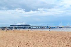 Χώρος Άγιος-Πετρούπολη ` γηπέδου ποδοσφαίρου ` στο νησί Krestovsky στη Αγία Πετρούπολη για το Παγκόσμιο Κύπελλο 2018 στη Ρωσία στοκ εικόνες