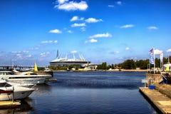Χώρος Άγιος Πετρούπολη, ΡΩΣΙΑ αποκορυφώματος σταδίων - JULE 06, 2018: στοκ εικόνα με δικαίωμα ελεύθερης χρήσης