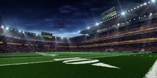 Χώρος αμερικανικού ποδοσφαίρου νύχτας στοκ εικόνες
