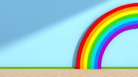 Χώρος για παιχνίδη με το ουράνιο τόξο Στοκ εικόνα με δικαίωμα ελεύθερης χρήσης