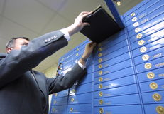 χώρος καταθέσεων τραπεζών Στοκ φωτογραφία με δικαίωμα ελεύθερης χρήσης