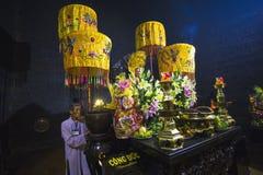 Χώρος λατρείας στους πύργους Cham Po Nagar στο Βιετνάμ Στοκ Εικόνες