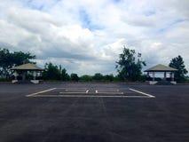 χώρος στάθμευσης ή πλατφόρμα για το ελικόπτερο Στοκ εικόνες με δικαίωμα ελεύθερης χρήσης