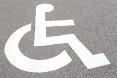 Χώρος στάθμευσης αναπηρίας Στοκ φωτογραφίες με δικαίωμα ελεύθερης χρήσης