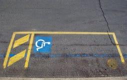 Χώρος στάθμευσης αναπηρίας Στοκ Φωτογραφίες