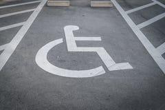 Χώρος στάθμευσης αναπηρίας Στοκ εικόνα με δικαίωμα ελεύθερης χρήσης