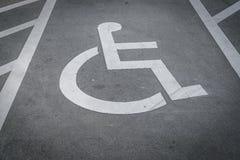 Χώρος στάθμευσης αναπηρίας Στοκ φωτογραφία με δικαίωμα ελεύθερης χρήσης