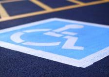 χώρος στάθμευσης αναπηρί&alph Στοκ Εικόνα