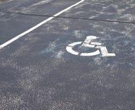 χώρος στάθμευσης αναπηρί&alph Στοκ φωτογραφία με δικαίωμα ελεύθερης χρήσης