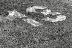 Χώρος στάθμευσης αριθμός 13 Στοκ φωτογραφία με δικαίωμα ελεύθερης χρήσης