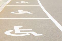 Χώρος στάθμευσης αυτοκινήτων για το πρόσωπο αναπηρίας Στοκ Εικόνα
